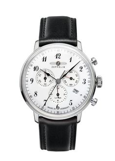 Inspired by one of the greatest achievements in aeronautical history, the Hindenburg Chronograph is a tasteful blend of retro style and technical refinement. Best Looking Watches, Cool Watches, Watches For Men, Zeppelin Watch, Beautiful Watches, Watch Sale, Stainless Steel Case, Chronograph, Jewelry Watches