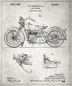 Harley Davidson Inc was founded in the first decade of the 20th century and was one of two major American motorcycle manufacturers to survive the Great Depression. The motorcycles (pictured) are known for the tradition of heavy customisation that gave rise to the 'chopper' style of motorcycle