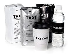 Taxi Cafe / Designed by TAXI   Country: Canada   Fonts used: Akzidenz Grotesk