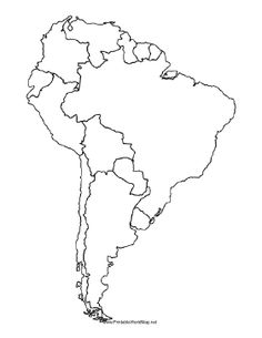 Map Of South American Countries Occ Shoebox Pinterest South