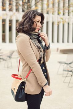 """fromme-toyou:        Accentuate with red.    Lessons from my """"Treasure Bag"""" a collaboration by Bag Snob & DKNY that fits perfectly in my world.    Pssst- Another staple this fall- Georgie Redford Jacket"""