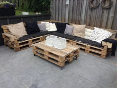 Lounge Set With Repurposed EURO Pallets Pallet Lounges & Garden Sets