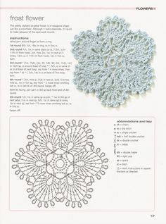 Frost flower crochet with diagram :-)