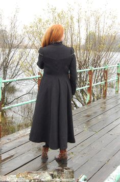Women's tweed and velvet Moidart Coat. Designed and handmade in Scottish Highlands.  Inspired by times past. Victorian fashion. Edwardian fashion. Tudor fashion. Elizabethan www.lornagillies.com
