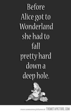 Before Alice got to Wonderland…