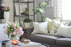 Hello friends, my home tour on my blog is need of an update! I though the  easiest and best way to showcase my home tour is sharing my home on the  blog room by room, then each week I'll update my house tour page. Make  sense?  Every Friday, I'll be sharing rooms in my home. Today, I'm sharing
