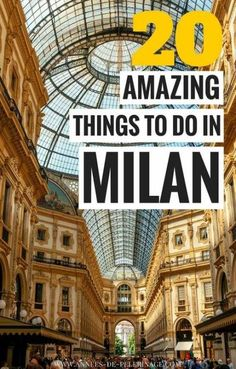 The 20 best things to do in Milan, Italy. Where to stay, when to visit and what to see in Milan - this comprehensive travel guide will answer all your questions. Plan your perfect Italy itinerary. Positano, Amalfi, Europe Destinations, Italy Travel Tips, Travel Guide, Travel Hacks, Travel Europe, Travel Packing, Usa Travel