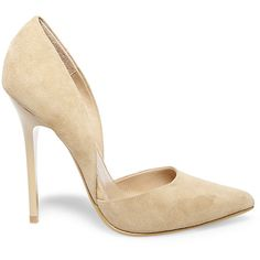 Steve Madden Women's Varcityy Pumps ($90) ❤ liked on Polyvore featuring shoes, pumps, heels, steve madden pumps, pointed toe high heel pumps, heels stilettos, steve-madden shoes and stiletto pumps