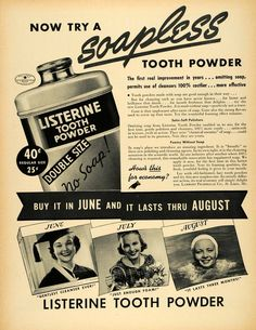 1. I'm glad there isn't any SOAP in it now... but 2. Why is it powder?! Glad I live in the 21st century...