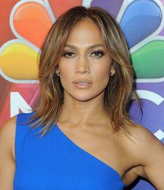 Jennifer Lopez Medium Layered Cut - Shoulder Length Hairstyles Lookbook - StyleBistro