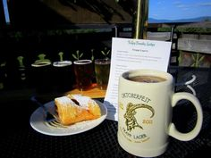 When in the Stowe area, our tours stop at the Trapp Family Lodge for lunch. Shown above is a delicious apple strudel, plus sampler (Golden Helles, Vienna Amber, Dunkel Lager, and Winter Lager) of Trapp Lager. The Trapp DeliBakery features outdoor seating with a view, making it an ideal stop for lunch. Sandwiches, soups, pasta dishes, salads, baked goods and deli meats are all available!