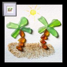 "Relish, Inc. Store - ""Island Paradise"" Sea Glass Framed Art (http://www.relishinc.com/products/island-paradise-sea-glass-framed-art.html)"