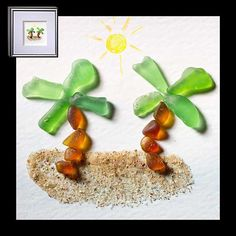 "Relish, Inc. Store - ""Island Paradise"" Sea Glass Framed Art (http://www.relishinc.com/products/island-paradise-sea-glass-framed-art.html)"