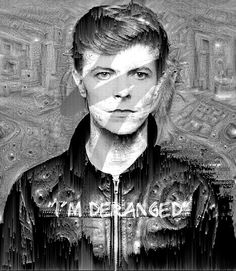 My tribute to Bowie. Edited with Fotor, photosuite and deep dream.
