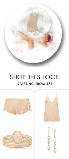 """Peaches"" by bren-johnson ❤ liked on Polyvore featuring La Perla, Ross-Simons, Kate Spade and Nashelle"