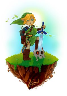 #Link from #Zelda to be made a print for our local con, #KelownaFanXpo