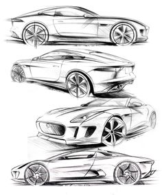 107 best blue prints images drawings of cars car drawings car sketch 1968 Mustang Body Kit matthew beaven s jaguar concept production pencil sketches f type coupe