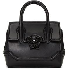 Versace Black Mini Palazzo Empire Bag (18.132.070 IDR) ❤ liked on Polyvore featuring bags, handbags, shoulder bags, black, mini shoulder bag, flap purse, clasp handbag, mini handbags and clasp purse