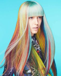 Vibrant, fade resistant color that improves your hair. Aveda full-spectrum hair color is customized just for you for personalized results every time. Creative Hairstyles, Cool Hairstyles, Great Hair, Amazing Hair, Aveda Hair Color, Creative Hair Color, Avant Garde Hair, Hair Color Techniques, Coloured Hair