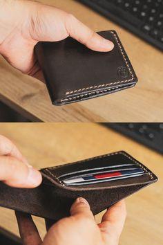 Mens wallet Wallets for men Mens leather wallet Leather Leather Working, Real Leather, Leather Men, Leather Wallet, Luxury Mens Wallets, Slim Wallet, Men Wallet, Business Card Case, Minimalist Wallet