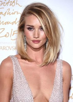 sleek blonde lob - use BLNDN Save You balancing cream to achieve this look