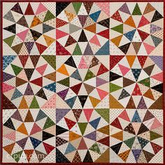 Then and Now: Yesterday's Inspiration – Today's Techniques – Tomorrow's Treasures by Joyce Dean Gieszeler Optical Illusion Quilts, Optical Illusions, Kaleidoscope Quilt, Geometric Quilt, Quilt Patterns, Quilting Ideas, Half Square Triangles, Traditional Quilts, Inspirational Books