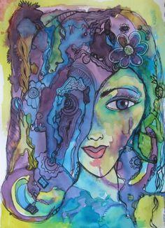 student artwork inspired by my Fashionista online workshop