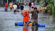 Flooding in Thailand.