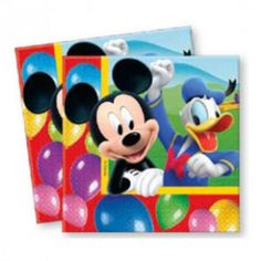 Disney Playful Mickey Serviettes (20) available online from Party Lady party supplies, themes and decorations delivered throughout South Africa.