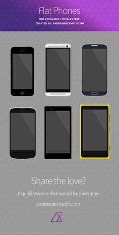 Freebie Flat Devices to use in flat UI comps by andrewbeckwith.com