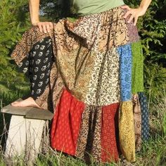 patchwork skirt!!