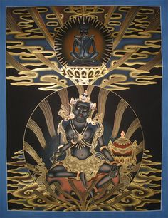 #Thangka Painting of Garab Dorje the first master of #Dzogchen