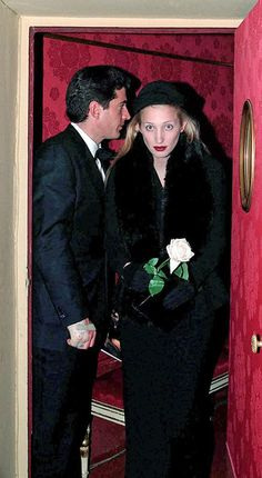Opera in Milan. John-John (JFK Jr.) and his wife, Carolyn Bessette.  RIP.