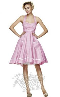 Retro Glam - Hellbunny Pink Olivie Dress. Claims to be a brighter pink $79