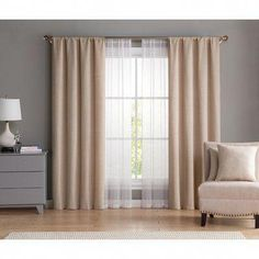 Vcny Home Diana Curtain & Throw Pillow Set, White Living Room Decor Curtains, Home Curtains, Living Room Windows, Home Decor Bedroom, Panel Curtains, Curtain Panels, Sheer Curtains, Curtain Designs, Throw Pillow Sets