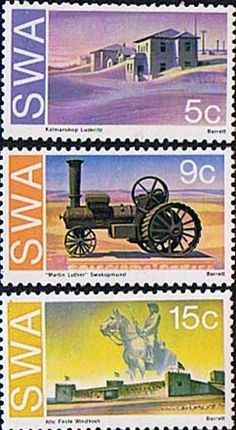 South West Africa 1975 Historic Monuments Set Fine Mint SG 274 6 Scott 377 9 Other African and British Commonwealth Stamps HERE!