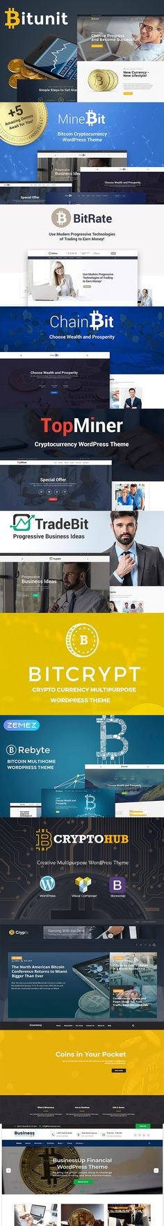 10+ Top Free And Premium #Cryptocurrency #WordPress #Themes