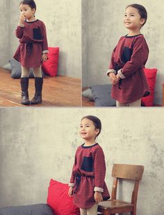 Cotton Fleece Striped Dress. While stock lasts @Christa Oakes.com