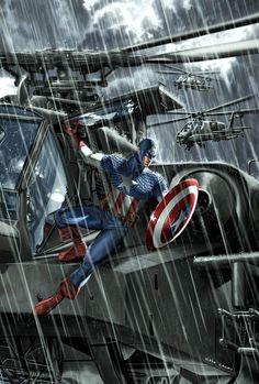 Captain America - Caio Cacau Marvel Comic Universe, Comics Universe, Marvel Dc Comics, Marvel Heroes, Marvel Characters, Marvel Vs, Univers Marvel, Steve Rogers, Gi Joe