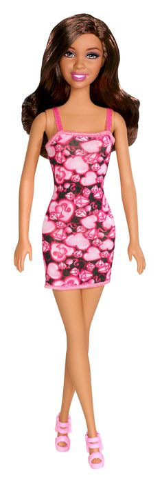 Barbie® Doll - Signature Pink Hearts Print Dress - African American
