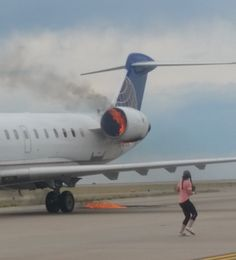 07/02/2017 - United plane's engine catches fire during landing at Denver Airport