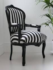 Bedroom Black Furniture Striped Chair New Ideas Striped Chair, Mirrored Furniture, Chair, Furniture, Side Chairs, Black Furniture, White Furniture, Black Bedroom Furniture, Striped Furniture