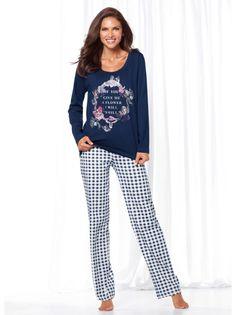 Pijama largo 2 piezas mujer estampado