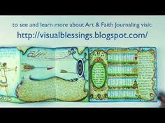 YouTube flip through on visual blessings blog: Word of the Year Art Journal Reflecting Life