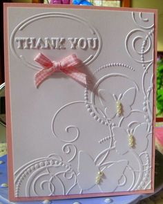 Just bought this embossing folder, great way to use it. Thanks to 7kids