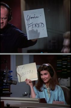 Frasier scene - Frasier & Roz, an example of job security and the benefits of being union!