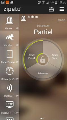 Armement partiel smartphone Zipabox  Plus de découvertes sur Le Blog Domotique.fr #domotique #smarthome #homeautomation