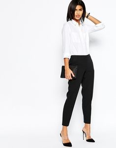 70ea4afbeaf ASOS Ankle Grazer Cigarette Trousers in Crepe Asos