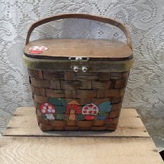 Purse by Caro Nan mushrooms by VicsVintage on Etsy
