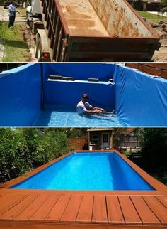 Awesome shipping container pool design ideas pinterest 7 diy swimming pool ideas and designs from big builds to weekend projects solutioingenieria Images